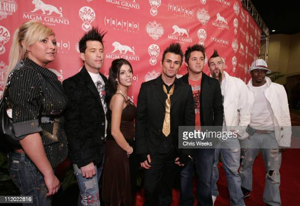 Jeremy Jackson and guests during Imperia Presents Jermaine Dupri's 2005 Billboard Music Awards Party at Teatro @ MGM in Las Vegas Nevada United States