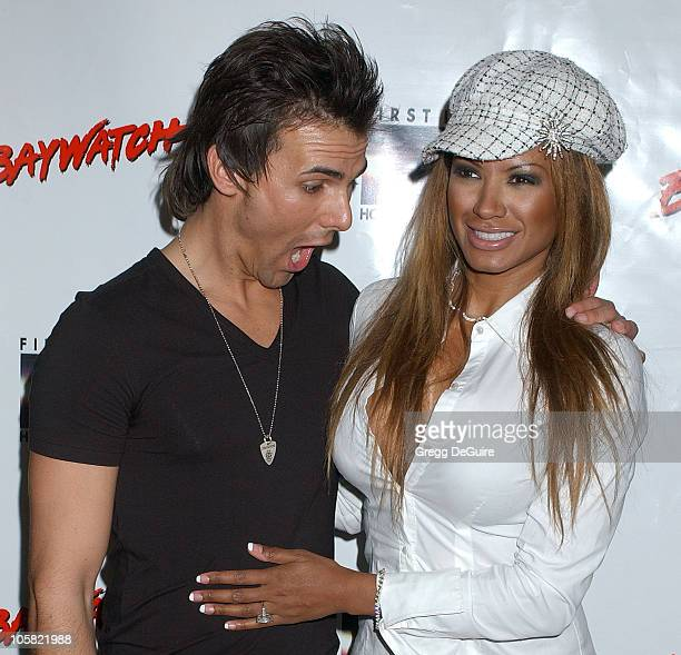 Jeremy Jackson and Traci Bingham during Pamela Anderson Hosts DVD Release Of 'Baywatch' Seasons One And Two Arrivals at Casa Del Mar in Santa Monica...