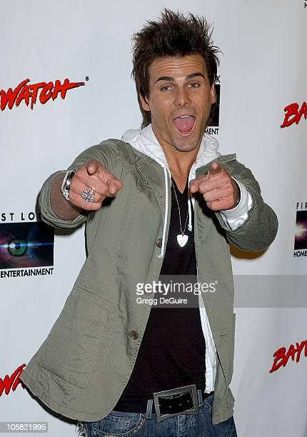 Jeremy Jackson during Pamela Anderson Hosts DVD Release Of 'Baywatch' Seasons One And Two Arrivals at Casa Del Mar in Santa Monica California United...