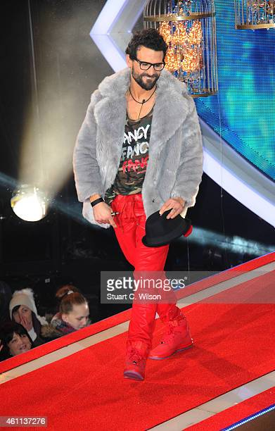 Jeremy Jackson enters the Celebrity Big Brother house at Elstree Studios on January 7 2015 in Borehamwood England