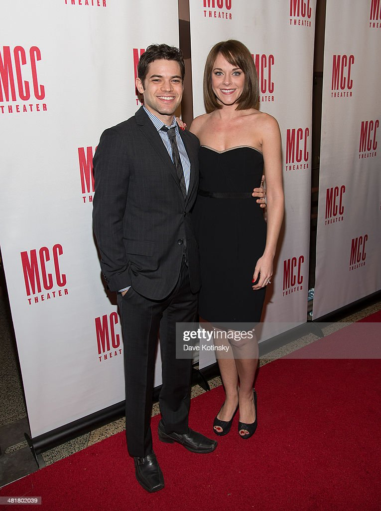 Jeremy Jordan and Ashley Spencer attend Miscast 2014 at Hammerstein Ballroom on March 31, 2014 in New York City.