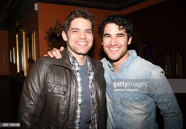 Jeremy Jordan and Darren Criss attend 54 Below on March 3 2015 in New York City
