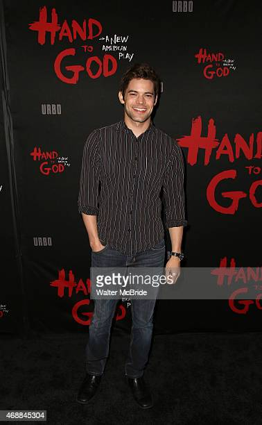 Jeremy Jordan attends the Broadway Opening Night performance of 'Hand To God' at The Booth Theatre on April 7 2015 in New York City