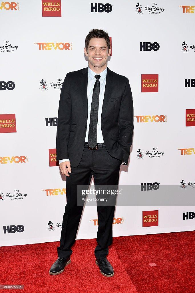 Jeremy Jordan attends the TrevorLIVE LA 2015 event at Hollywood Palladium on December 6, 2015 in Los Angeles, California.