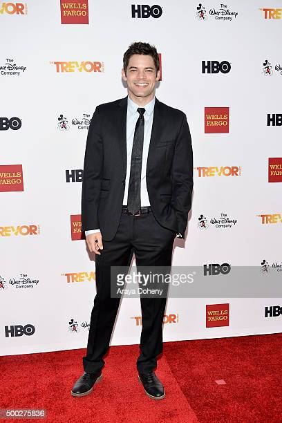 Jeremy Jordan attends the TrevorLIVE LA 2015 event at Hollywood Palladium on December 6 2015 in Los Angeles California
