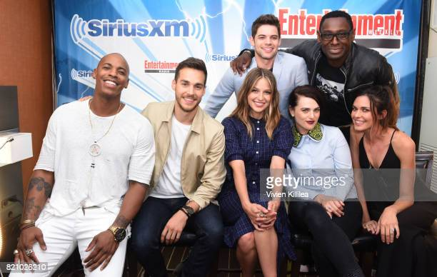 Jeremy Jordan David Harewood Mehcad Brooks Chris Wood Melissa Benoist Katie McGrath and Odette Annable attend SiriusXM's Entertainment Weekly Radio...