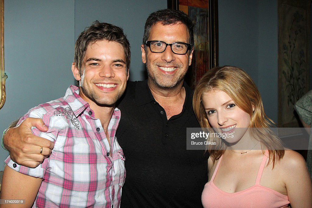 Jeremy Jordan, director <a gi-track='captionPersonalityLinkClicked' href=/galleries/search?phrase=Richard+LaGravenese&family=editorial&specificpeople=630993 ng-click='$event.stopPropagation()'>Richard LaGravenese</a> and <a gi-track='captionPersonalityLinkClicked' href=/galleries/search?phrase=Anna+Kendrick&family=editorial&specificpeople=3244893 ng-click='$event.stopPropagation()'>Anna Kendrick</a> pose at the wrap party for the film 'The Last 5 Years' at T.G. Whitney's on July 18, 2013 in New York City.
