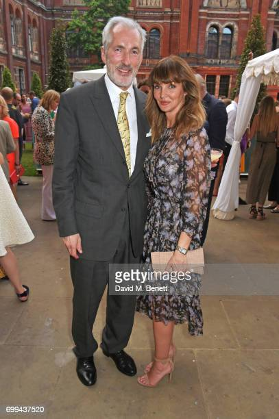 Jeremy King and Lauren Gurvich attend the 2017 annual VA Summer Party in partnership with Harrods at the Victoria and Albert Museum on June 21 2017...