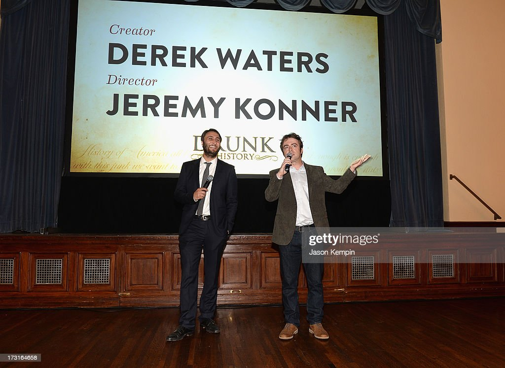 Jeremy Konner and Derek Waters attend Comedy Central's 'Drunk History' Premiere Party at The Wilshire Ebell Theatre on July 8, 2013 in Los Angeles, California.