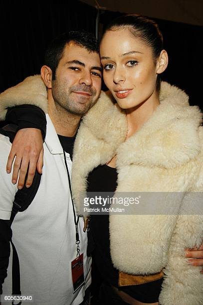 Jeremy Kost and Nicole Trunfio attend Oakley Womens Fall 06 Fashion Show at Atelier The Tents at Bryant Park on February 4 2006 in New York