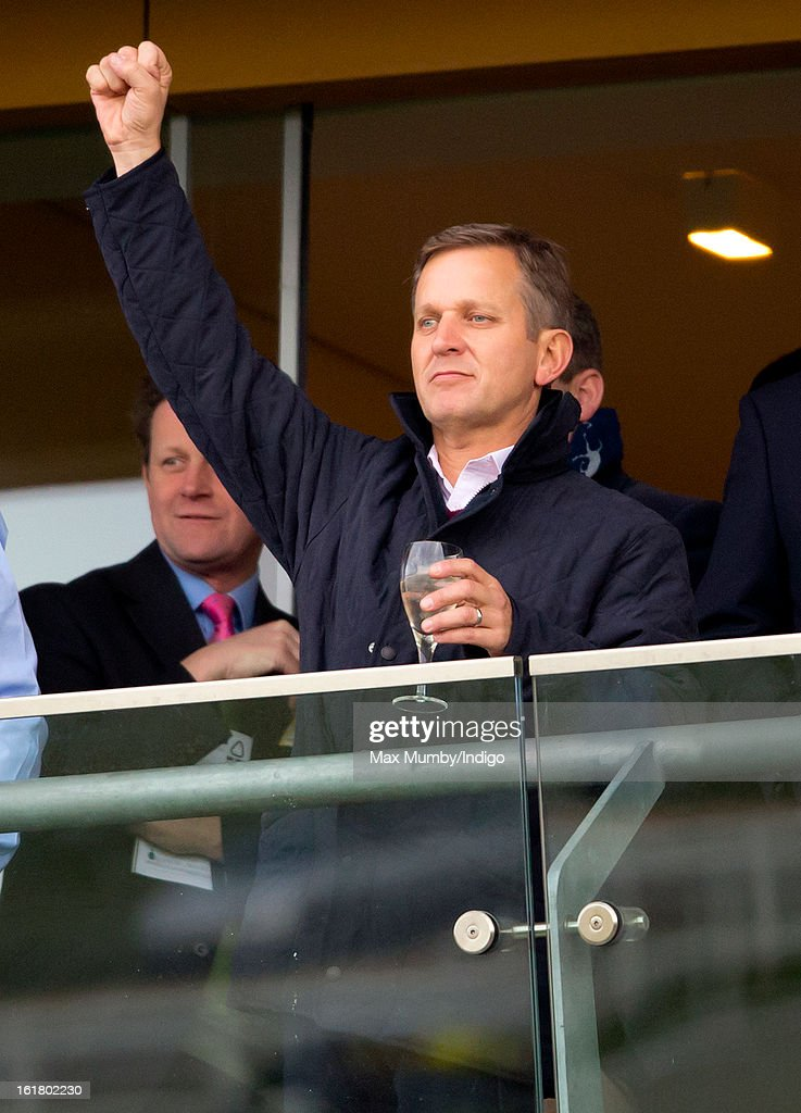 <a gi-track='captionPersonalityLinkClicked' href=/galleries/search?phrase=Jeremy+Kyle&family=editorial&specificpeople=680413 ng-click='$event.stopPropagation()'>Jeremy Kyle</a> cheers 'Cue Card' to victory in the Betfair Ascot Steeple Chase at Ascot Racecourse on February 16, 2013 in Ascot, England.