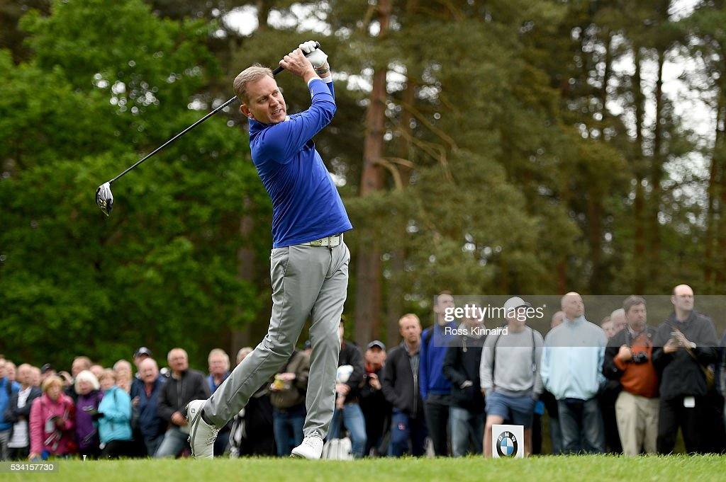 <a gi-track='captionPersonalityLinkClicked' href=/galleries/search?phrase=Jeremy+Kyle&family=editorial&specificpeople=680413 ng-click='$event.stopPropagation()'>Jeremy Kyle</a> hits a tee shot during the Pro-Am prior to the BMW PGA Championship at Wentworth on May 25, 2016 in Virginia Water, England.