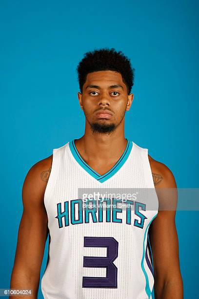 Jeremy Lamb of the Charlotte Hornets poses for a head shot during the 20162017 Charlotte Hornets Media Day at the Time Warner Cable Arena on...