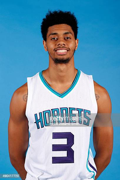 Jeremy Lamb of the Charlotte Hornets poses for media day at the Time Warner Cable Arena on February 4 2015 in Charlotte North Carolina NOTE TO USER...