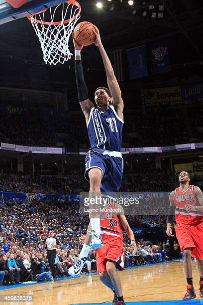 Jeremy Lamb of the Oklahoma City Thunder dunks during an NBA game on December 31 2013 at the Chesapeake Energy Arena in Oklahoma City Oklahoma NOTE...