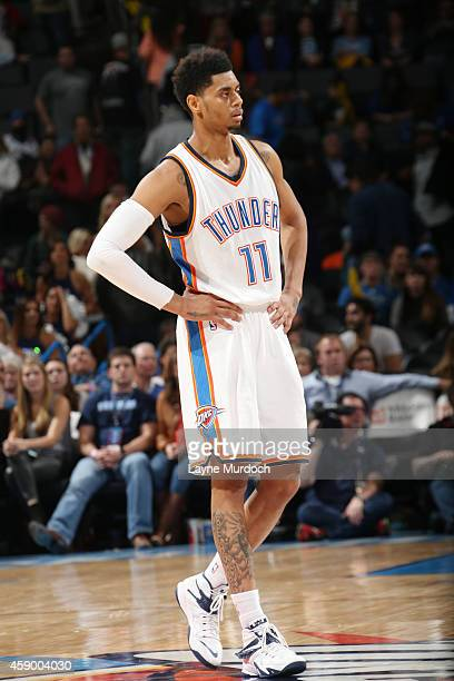 Jeremy Lamb of the Oklahoma City Thunder during the game on November 14 2014 at Chesapeake Energy Arena in Oklahoma City OK NOTE TO USER User...