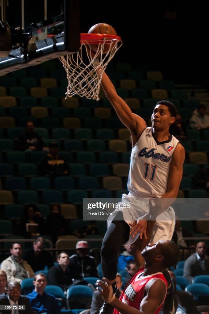 Jeremy Lamb #11 of the Tulsa 66ers dunks the basketball against the Maine Red Claws during the 2013 NBA D-League Showcase on January 7, 2013 at the Reno Events Center in Reno, Nevada.