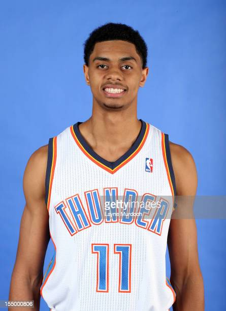 Jeremy Lamb poses for a portrait on October 29 2012 at the Thunder Events Center in Edmond Oklahoma NOTE TO USER User expressly acknowledges and...