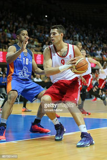 Jeremy Leloup of Strasbourg and Myles Hesson of Gravelines during the Final match between Strasbourg and Gravelines Dunkerque at Tournament ProStars...
