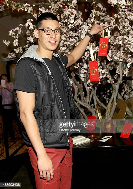 Jeremy Lin attends Beverly Center Lunar New Year celebration on February 19 2015 in Los Angeles California