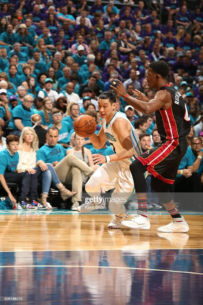<a gi-track='captionPersonalityLinkClicked' href=/galleries/search?phrase=Jeremy+Lin&family=editorial&specificpeople=6669516 ng-click='$event.stopPropagation()'>Jeremy Lin</a> #7 of the Charlotte Hornets drives to the basket against the Miami Heat in Game Six of the Eastern Conference Quarterfinals during the 2016 NBA Playoffs on April 29, 2016 at Time Warner Cable Arena in Charlotte, North Carolina.