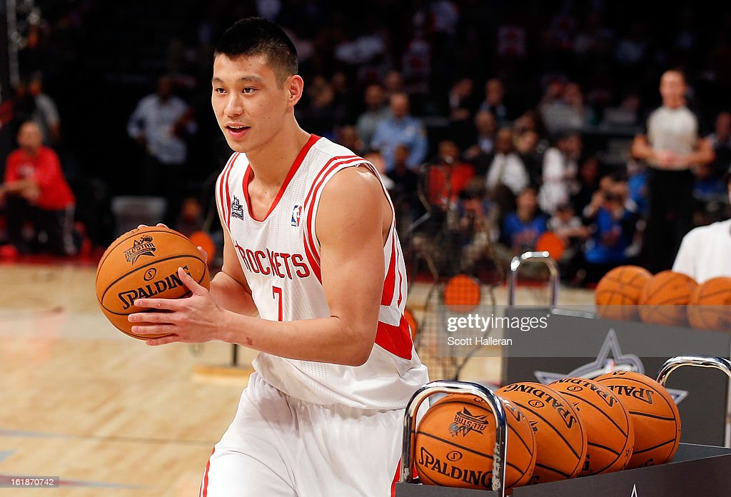 Jeremy Lin of the Houston Rockets competes during the Taco Bell Skills Challenge part of 2013 NBA All-Star Weekend at the Toyota Center on February 16, 2013 in Houston, Texas.