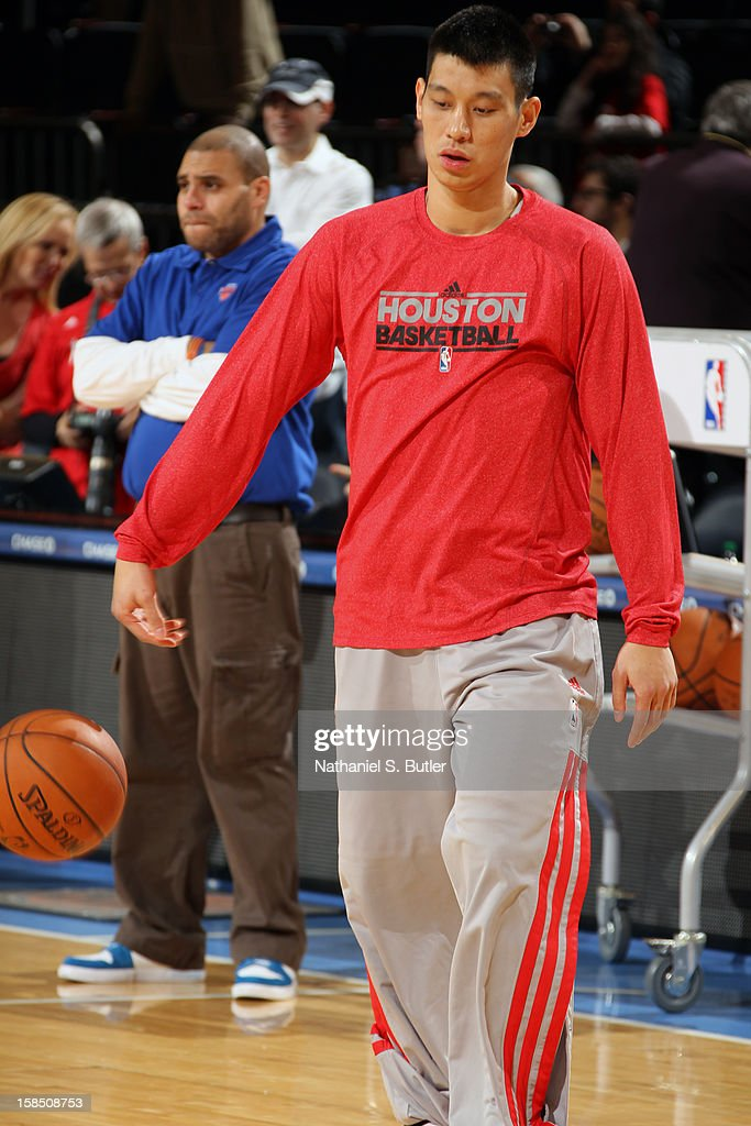 <a gi-track='captionPersonalityLinkClicked' href=/galleries/search?phrase=Jeremy+Lin&family=editorial&specificpeople=6669516 ng-click='$event.stopPropagation()'>Jeremy Lin</a> #7 of the Houston Rockets dribbles the ball prior to the New York Knicks game on December 17, 2012 at Madison Square Garden in New York City.