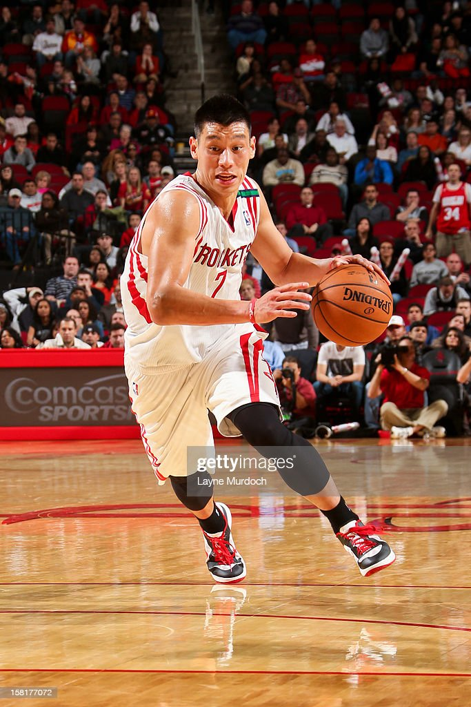 <a gi-track='captionPersonalityLinkClicked' href=/galleries/search?phrase=Jeremy+Lin&family=editorial&specificpeople=6669516 ng-click='$event.stopPropagation()'>Jeremy Lin</a> #7 of the Houston Rockets drives against the San Antonio Spurs on December 10, 2012 at the Toyota Center in Houston, Texas.