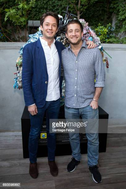 Jeremy Lindblad and Tyrone Wood celebrate World Oceans Day Eve with Project 0 in honor of the La Mer Wave Walk in Support of Project 0 at The James...