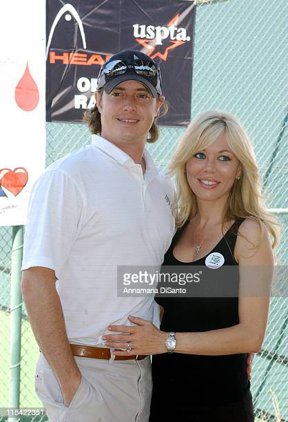 Jeremy London and his wife during TJ Martell / Neil Bogart Foundation 2006 Racquet Rumble Tennis Tournament at Riviera Tennis Club in Los Angeles...