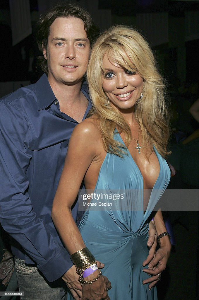 Jeremy London and Melissa Cunnigham during Harlottique Opening - July 22, 2005 at Harlottique in Studio City, California, United States.