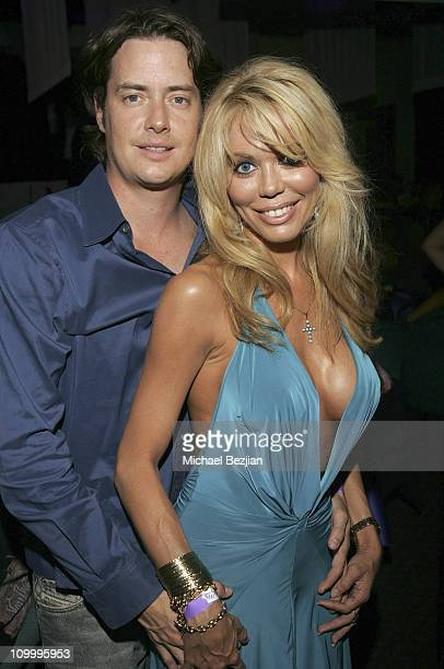 Jeremy London and Melissa Cunnigham during Harlottique Opening July 22 2005 at Harlottique in Studio City California United States