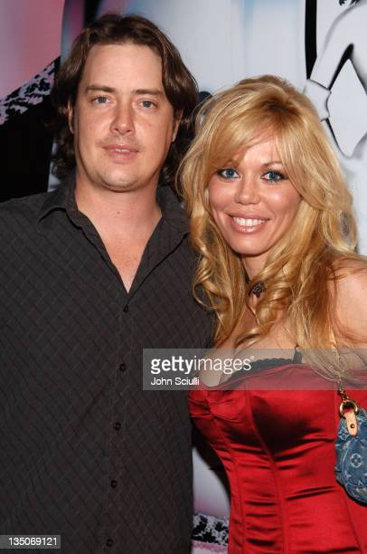 Jeremy London and Melissa Cunningham during Bodogcom Presents the 2006 Lingerie Bowl After Party at Hollywood Roosevelt Hotel in Los Angeles CA...