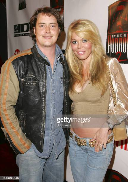 Jeremy London and Melissa Cunningham during 'Masters of Horror' Season 2 Hollywood Launch Party at The Ivar in Hollywood California United States
