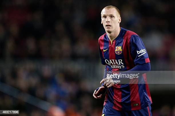 Jeremy Mathieu of FC Barcelona during the Copa del Rey match between FC Barcelona and Villarreal at Camp Nou on february 11 2015 in Barcelona Spain