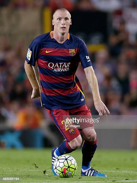 Jeremy Mathieu of FC Barcelona during the Joan Gamper Trophy match between Barcelona and AS Roma on August 5 2015 at the Camp Nou stadium in...