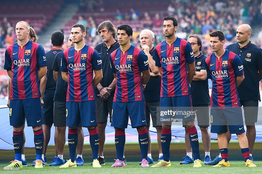Hilo del FC Barcelona Jeremy-mathieu-thomas-vermaelen-luis-suarez-sergio-busquets-and-of-picture-id453782222