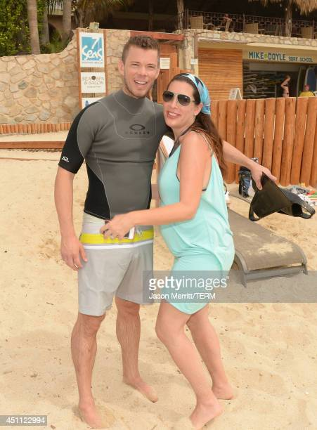 Jeremy McCassy and Jessica Meisels attend the Oakley Learn To RideSurf in Cabo San Lucas on June 23 2014 in Cabo San Lucas Baja California Sur