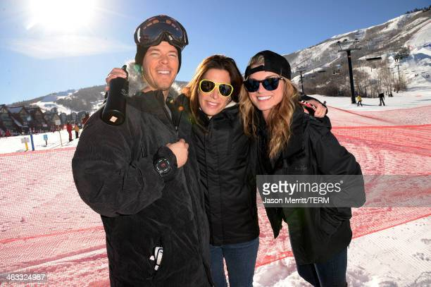 Jeremy McCassy Jessica Meisels and Lindsay Hubbard attend Oakley Learn to Ride with AOL at Sundance on January 17 2014 in Park City Utah