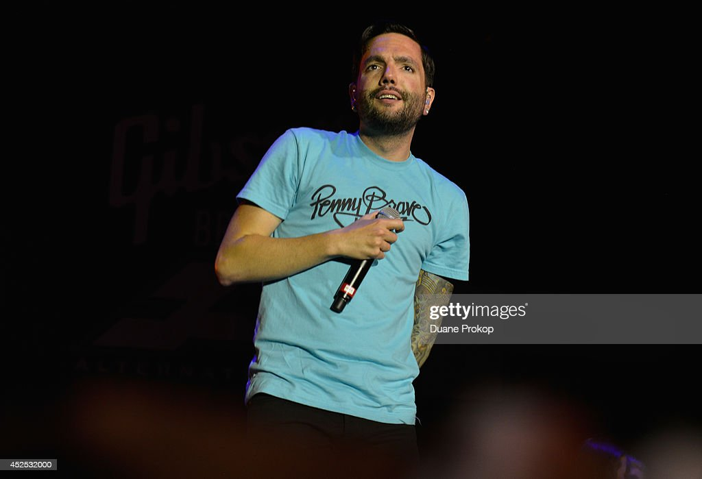 <a gi-track='captionPersonalityLinkClicked' href=/galleries/search?phrase=Jeremy+McKinnon&family=editorial&specificpeople=5731366 ng-click='$event.stopPropagation()'>Jeremy McKinnon</a> of A Day To Remember at the 2014 Gibson Brands AP Music Awards at the Rock and Roll Hall of Fame and Museum on July 21, 2014 in Cleveland, Ohio.
