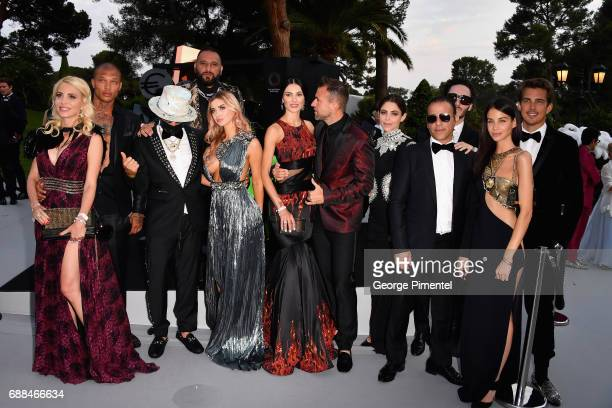 Jeremy Meeks Alec Monopoly Eriica Jardim Andreea Sasu Philipp Plein and guests attend the amfAR Gala Cannes 2017 at Hotel du CapEdenRoc on May 25...