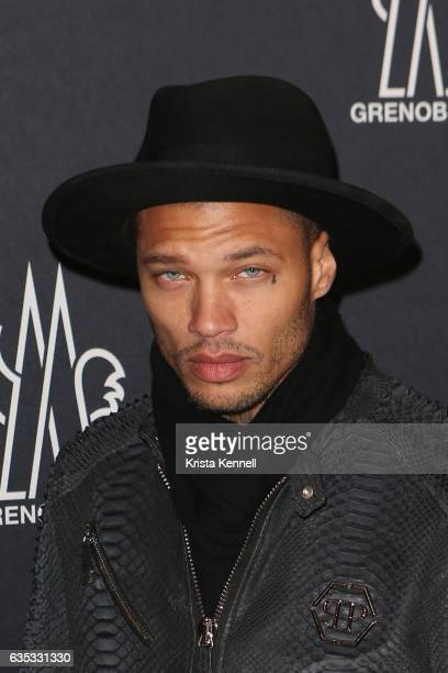 Jeremy Meeks attends Moncler Grenoble runway show during New York Fashion Week at Hammerstein Ballroom on February 14 2017 in New York City