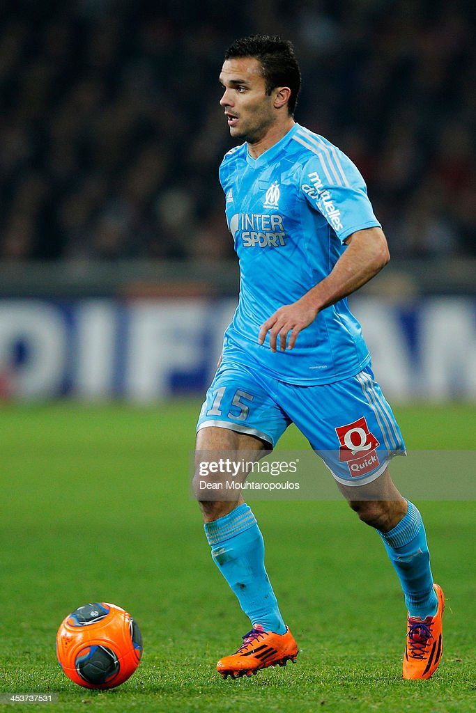 <a gi-track='captionPersonalityLinkClicked' href=/galleries/search?phrase=Jeremy+Morel&family=editorial&specificpeople=650503 ng-click='$event.stopPropagation()'>Jeremy Morel</a> of Marseille in action during the Ligue 1 match between LOSC Lille and Olympique de Marseille held at Stade Pierre-Mauroy on December 3, 2013 in Lille, France.