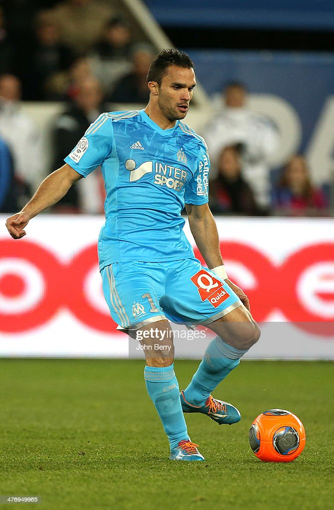 <a gi-track='captionPersonalityLinkClicked' href=/galleries/search?phrase=Jeremy+Morel&family=editorial&specificpeople=650503 ng-click='$event.stopPropagation()'>Jeremy Morel</a> of Olympique de Marseille in action during the Ligue 1 match between Paris Saint-Germain FC and Olympique de Marseille at Parc des Princes stadium on March 2, 2014 in Paris, France.