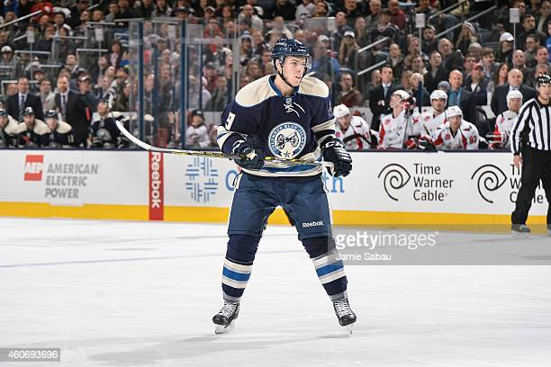Jeremy Morin of the Columbus Blue Jackets skates against the Washington Capitals on December 18 2014 at Nationwide Arena in Columbus Ohio Washington...