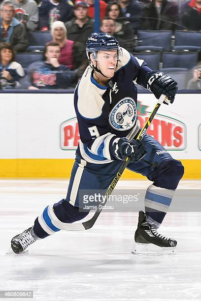 Jeremy Morin of the Columbus Blue Jackets skates against the Nashville Predators on December 22 2014 at Nationwide Arena in Columbus Ohio Nashville...