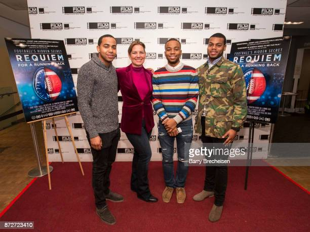 Jeremy Muhammad director Rebecca Carpenter Tramaine Berry and Derek Muhammad on the red carpet for the premiere of the film Requiem for a Running...