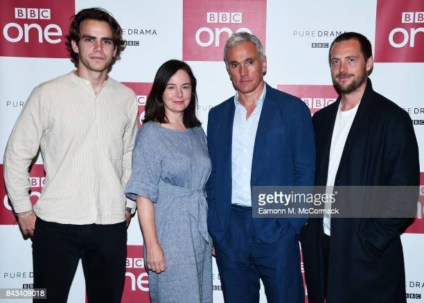 Jeremy Neumark Jones Amanda Drew Ben Miles and Stephen Campbell Moore attend the preview of BBC One Drama 'The Last Post' at BFI Southbank on...