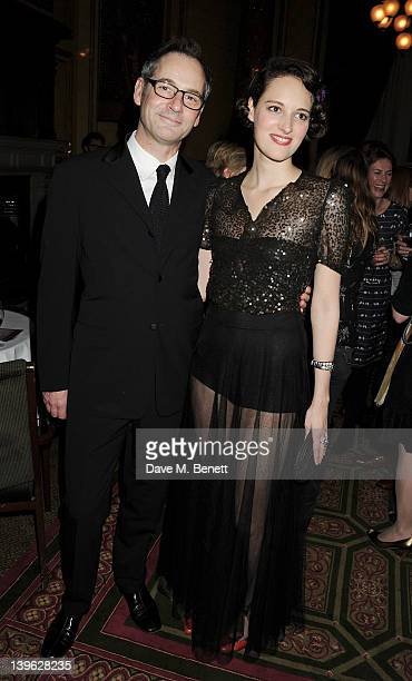 Jeremy Northam and Phoebe WallerBridge attend an after party celebrating the Gala Performance of Noel Coward's 'Hay Fever' at the Royal Horseguards...