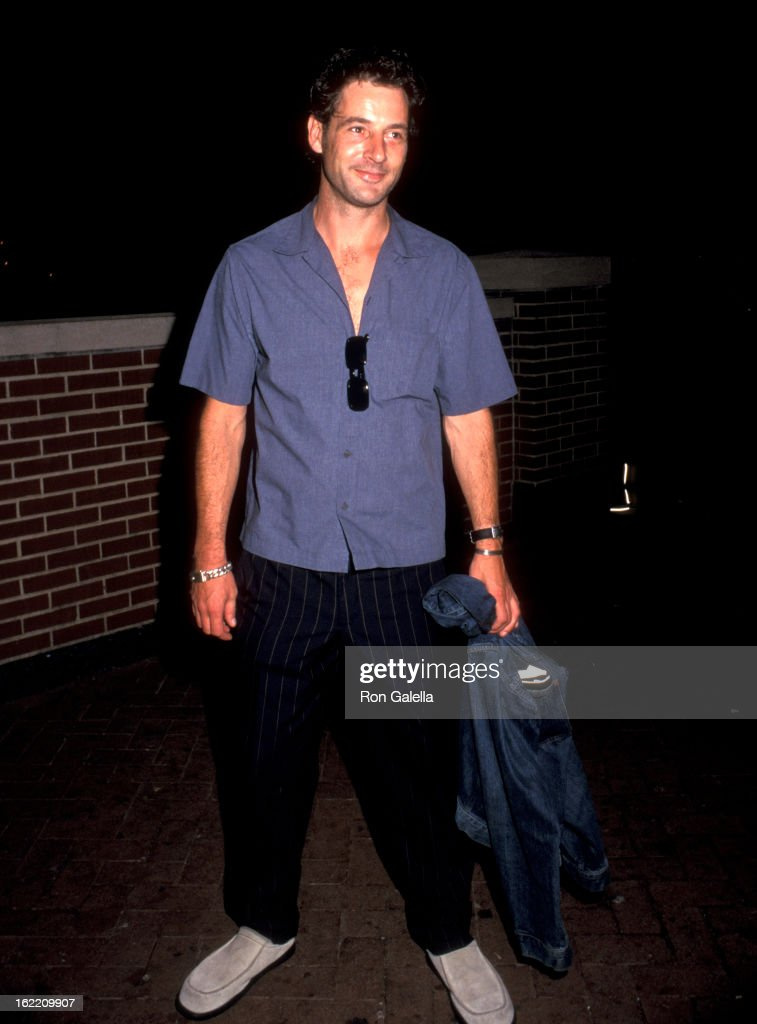 Jeremy Northam attends Party Celebrating Launch of Talk Magazine on August 2, 1999 at Liberty Island in New York City.